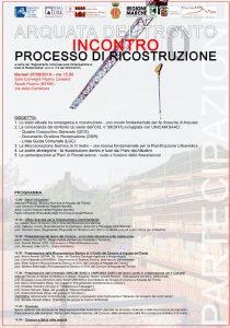 Arquata del Tronto processo di ricostruzione 07/08/2018