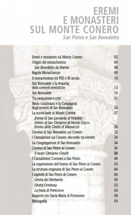 Eremi e monasteri sul Monte Conero - indice